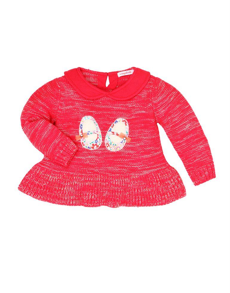 Wingsfield Casual Applique Girls Sweater