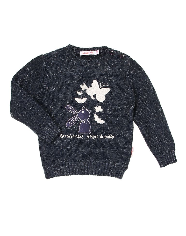 Wingsfield Casual Embroidered Girls Sweater