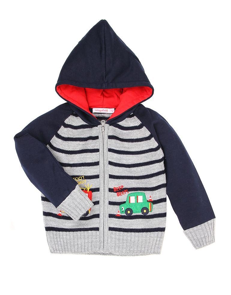 Wingsfield Grey Baby Boy Winter Wear Sweater