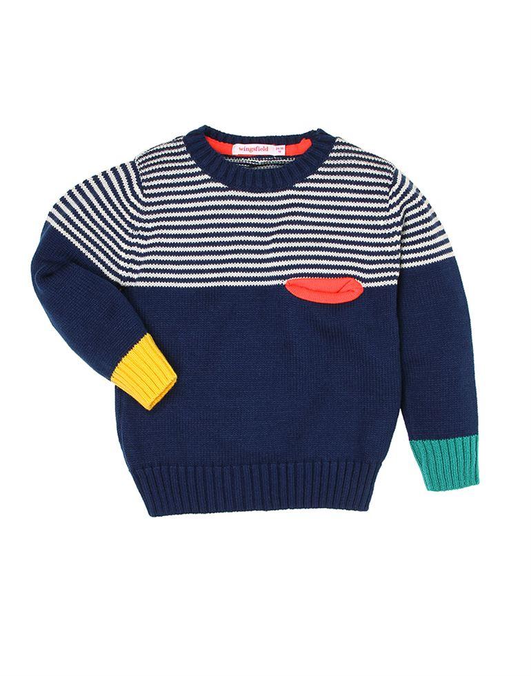 Wingsfield Navy Baby Boy Winter Wear Sweater