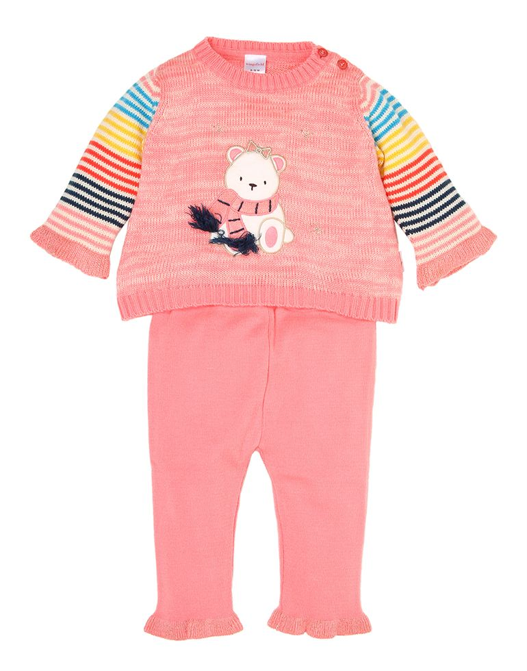 Wingsfield Casual Self Design Girls Set