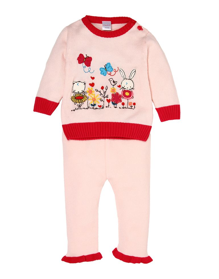 Wingsfield Casual Applique Girls Set