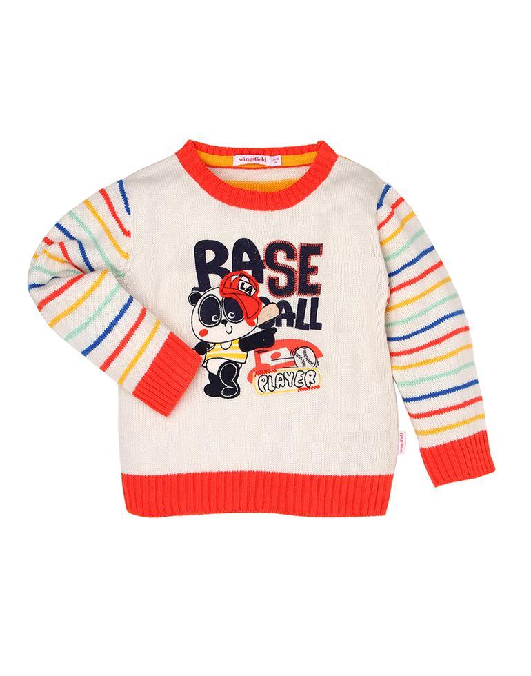 Wingsfield Multicolor Baby Boy Winter Wear Sweater