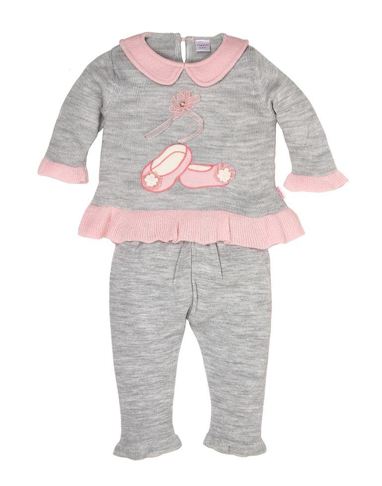 Wingsfield Casual Embroidered Baby Girls Set