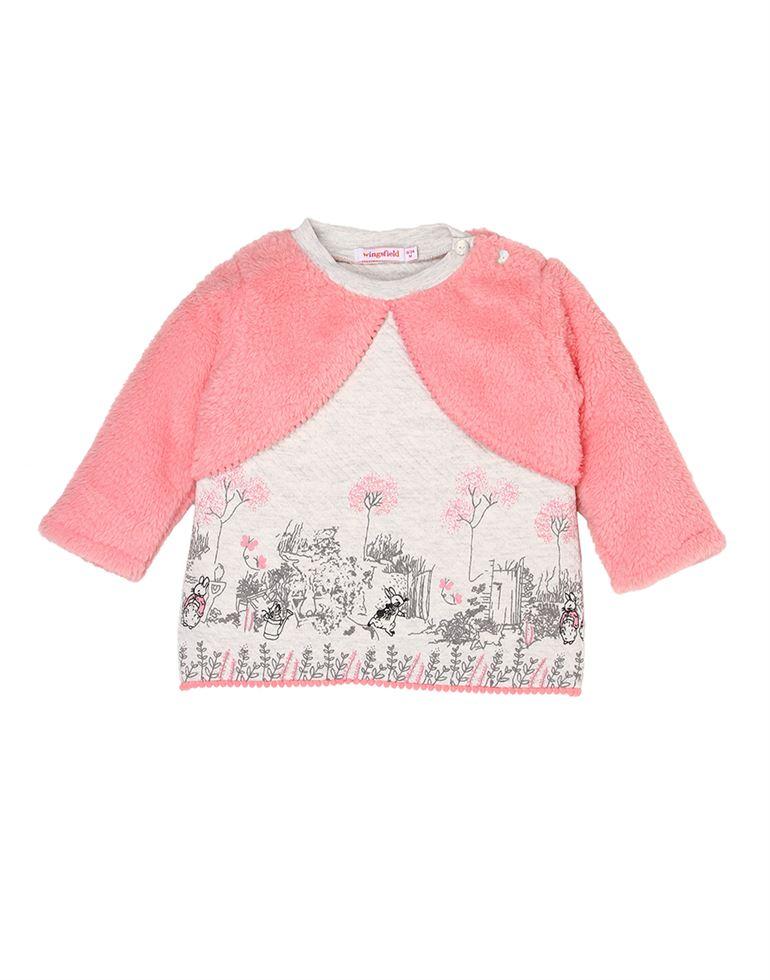 Wingsfield Casual Printed Girls Sweatshirt