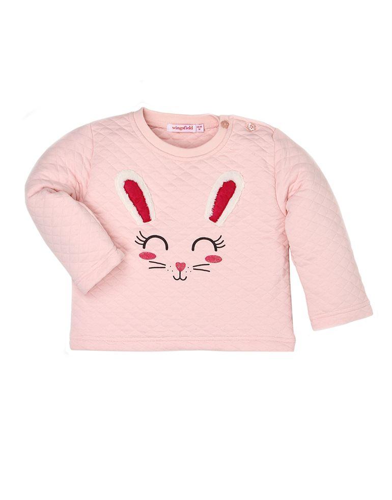 Wingsfield Casual Applique Girls Sweatshirt