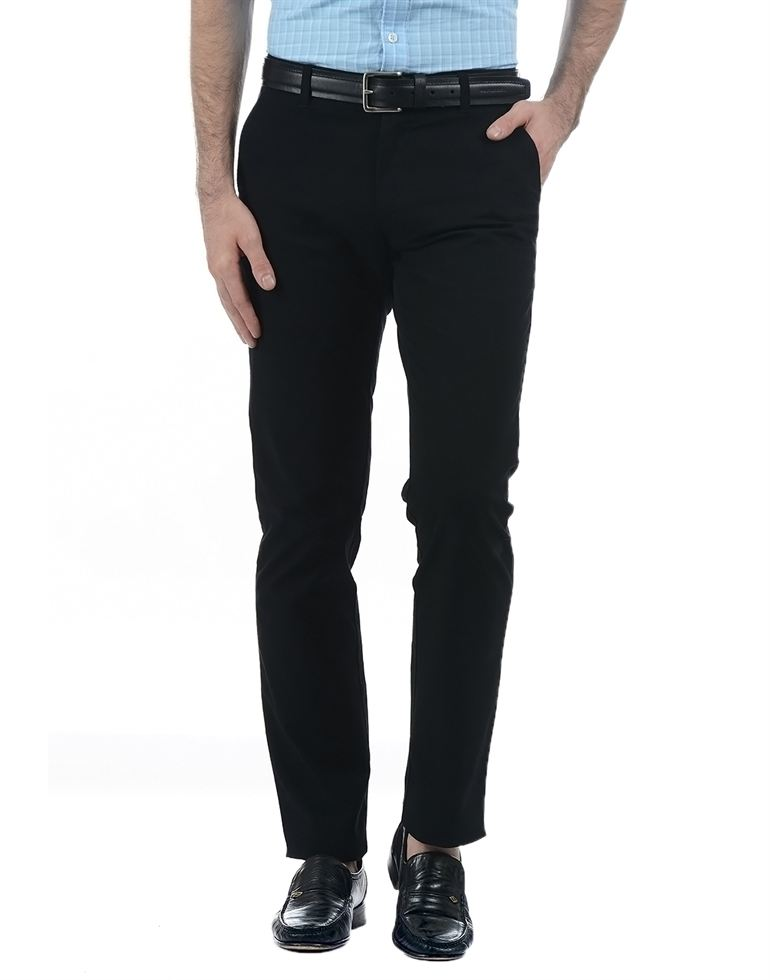 London Fog Men Black Trouser