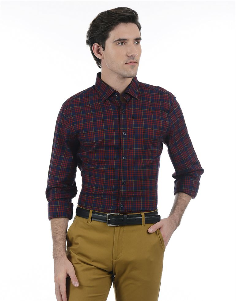 London Fog Men Red Shirt