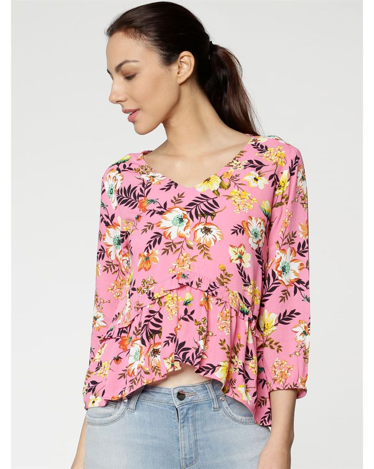 Only Women Casual Wear Floral Print Top