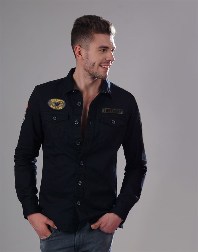 Superdry Casual Solid Men Shirt