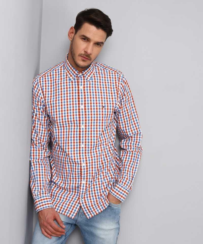 Tommy Hilfiger Men Casual Wear Checkered Shirt
