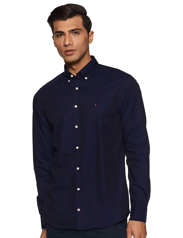 Tommy Hilfiger Men Casual Wear Polka Print T-Shirt