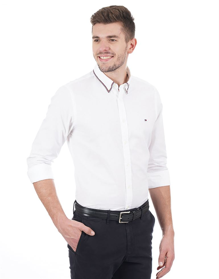 Tommy Hilfiger Casual Solid Men Shirt
