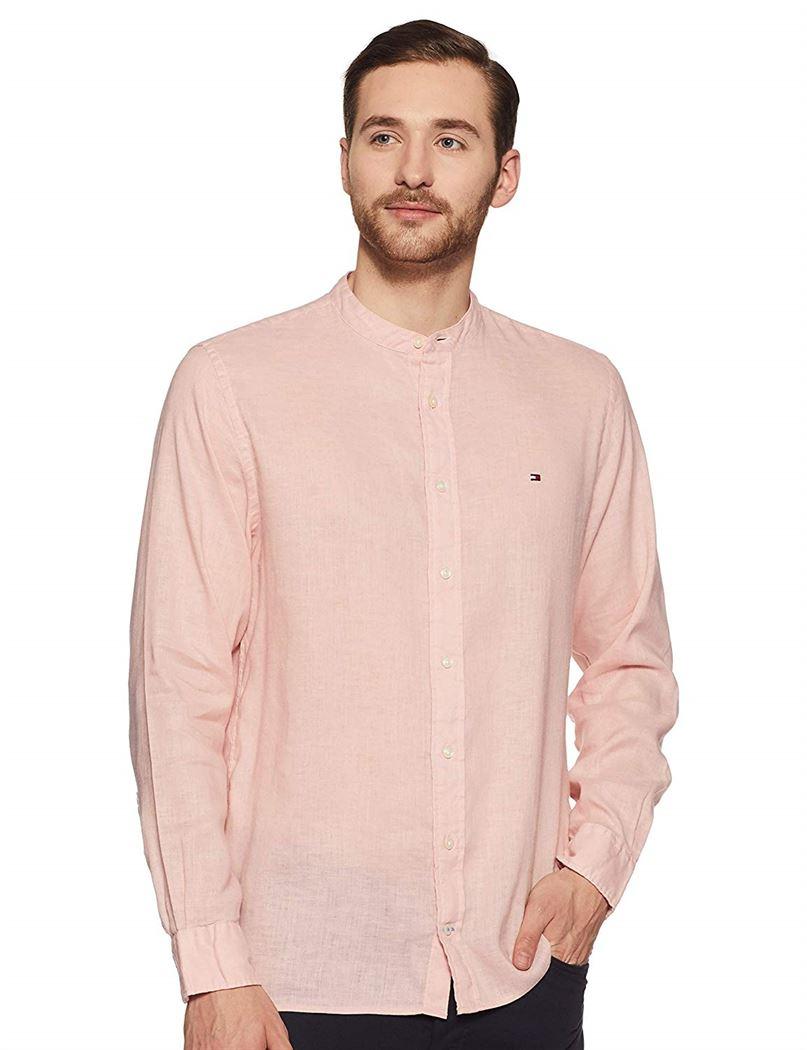 Tommy Hilfiger Men Casual Wear Solid T-Shirt