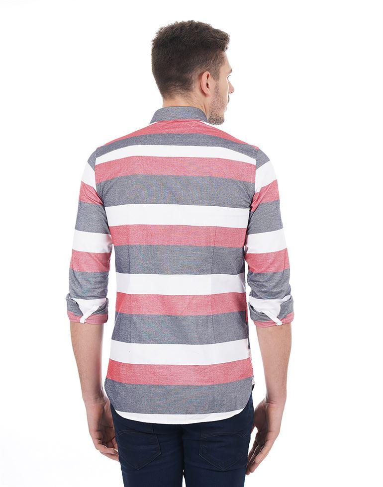 Tommy Hilfiger Casual Striped Men Shirt