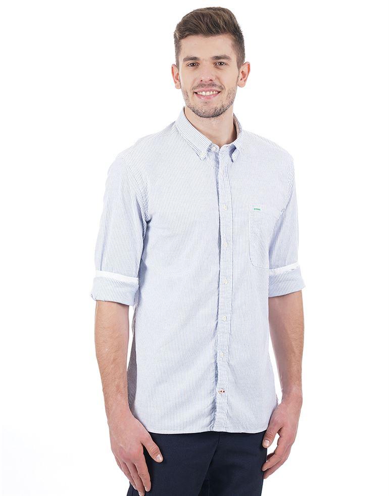Tommy Hilfiger Men Casual Wear Striped Shirt