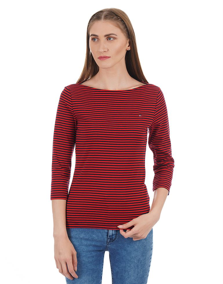Tommy Hilfiger Women Striped Casual Wear Top