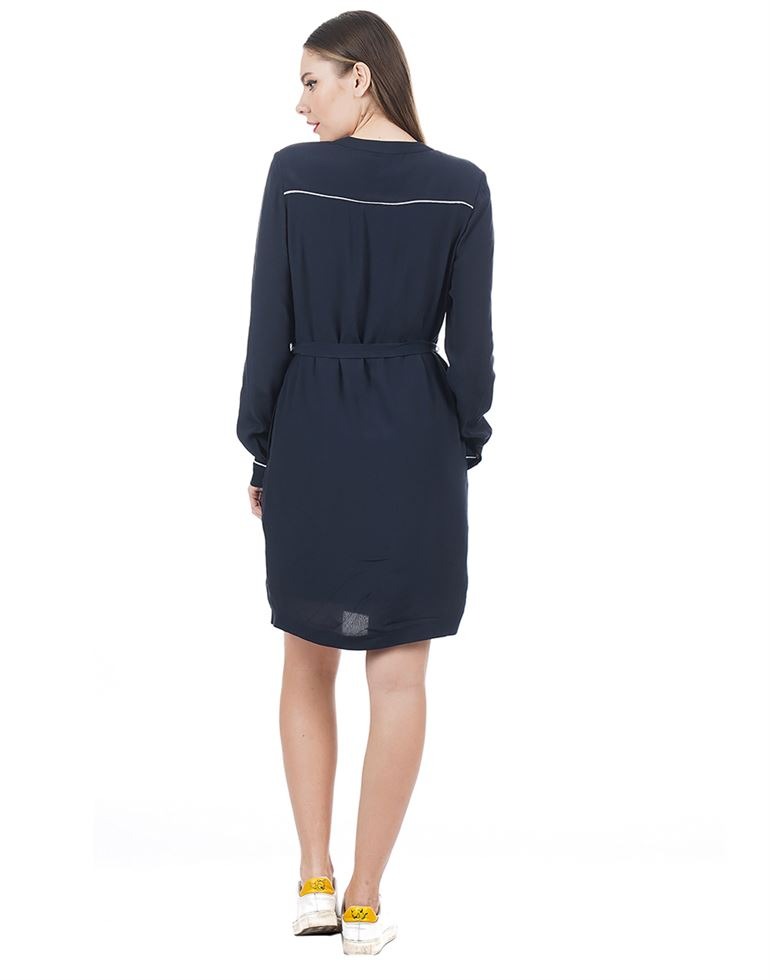 Tommy Hilfiger Casual Solid Women Dress