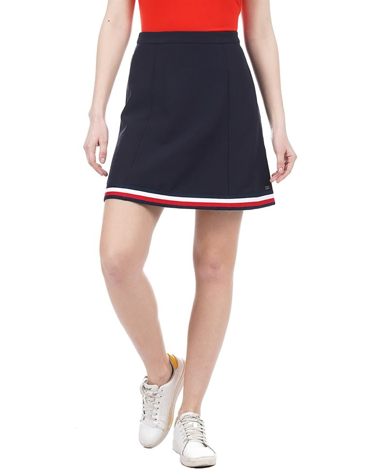Tommy Hilfiger Casual Solid Women Skirt