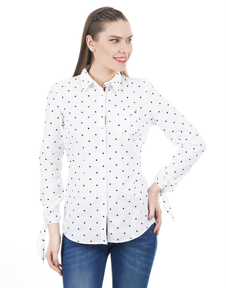 Tommy Hilfiger Casual Polka Print Women Top