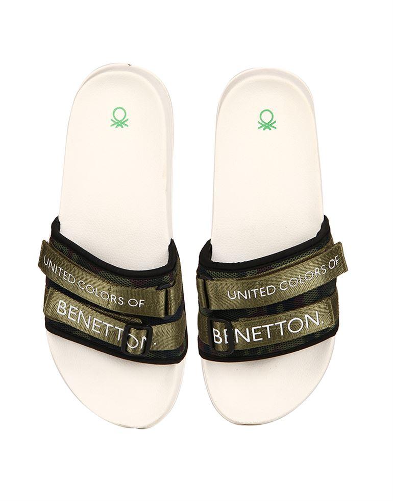 United Colors of Benetton Men Off-White Flip Flop