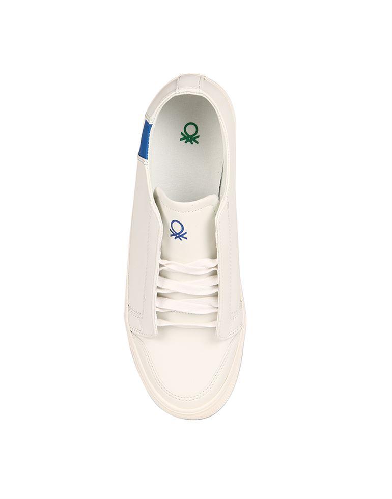 United Colors of Benetton Men White Slip Ons